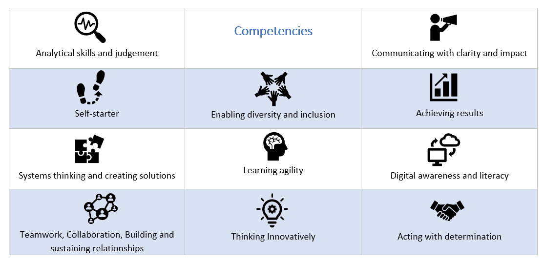 UNDP Graduate Programme - Required Competencies